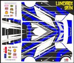 (Choose Colour) Dirt Motocross themed vinyl SKIN Kit To Fit Tamiya Lunchbox R/C Monster Truck